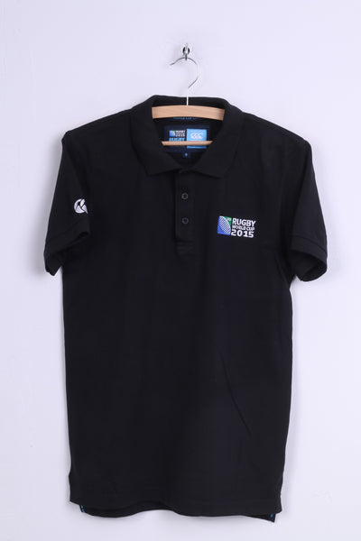 Canterbury England 2015 Mens S Polo Shirt White Rugby World Cup 2015 Black