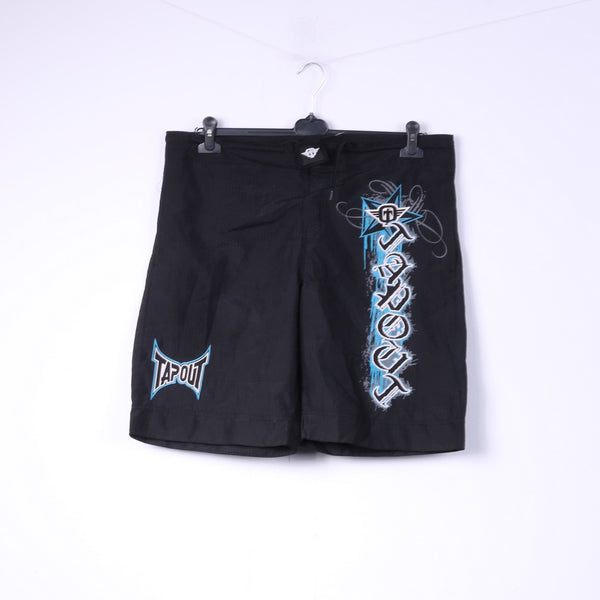 Tapout Mens XL Shorts Black Sportswear Logo Training Boxing MMA