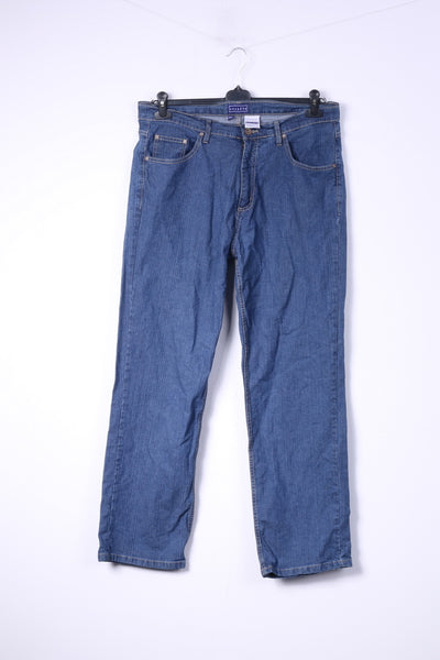 Encadee Womens 46 Trousers Denim Jeans Blue Cotton
