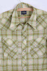 G-Star Raw Mens S Casual Shirt Short Sleeve Green Cotton