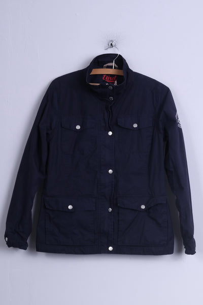 Etirel Campus Sportswear Womens 40 M Navy Blue Casual Jacket Cotton Shell Polyester Lining