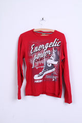 Casual Darx Youth XXL Shirt Long Sleeve Red Cotton Energetic Power