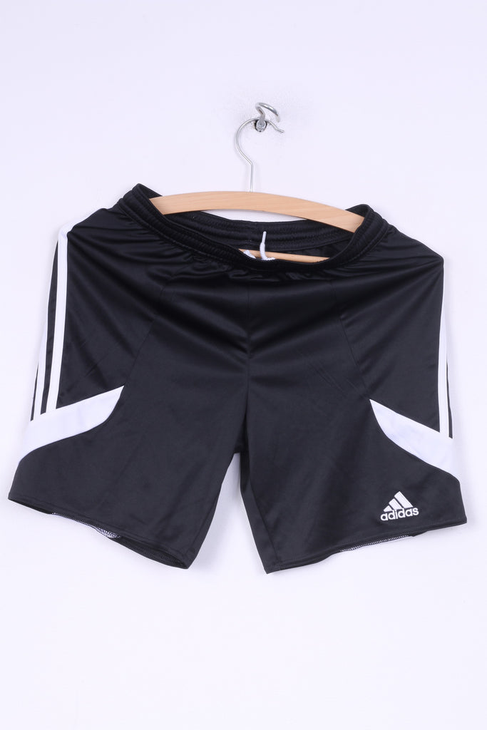 Adidas Boys 152 YL Shorts Black Sportswear Training Climalite 3 Stripe