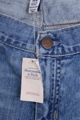 New Abercrombie&Fitch Mens 10 M Trousers Denim Jeans Cotton Blue - RetrospectClothes