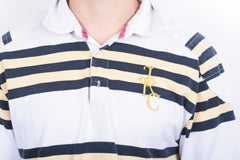 Joules Mens M Polo Shirt Rugby Club Striped Cotton - RetrospectClothes