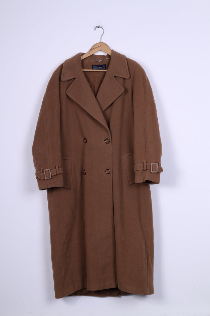 Etcetera Womens 18 44 XL Coat Brown Wool Cashmere Blend Two Buttons