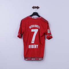 Adidas Womens 10 M Shirt red Bayern Munchen Football #7 Ribery Jersey Top