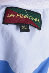 La Martina Mens XL Polo Shirt Blue Short Sleeve Cotton Summer - RetrospectClothes