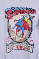 Marks&Spencer Mens M Graphic T-Shirt Superman Grey Cotton