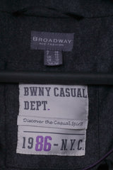 Broadway NYC Fashion Womens 38 M Coat Grey Wool Blend Casual Peacoat