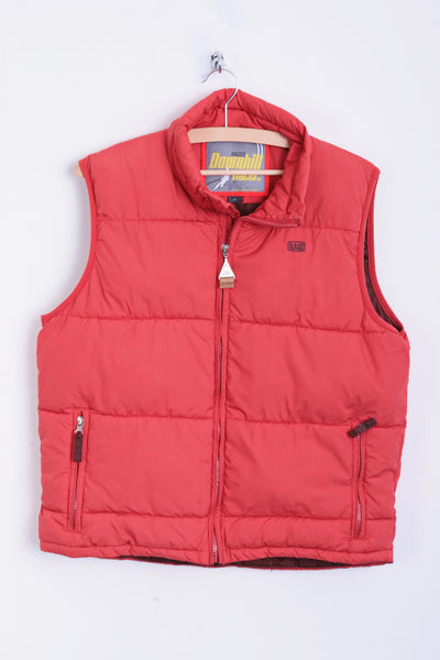 RAGS Mens XL Waistcoat Coral Downhill Racer Sleeveless Jacket Quilted - RetrospectClothes