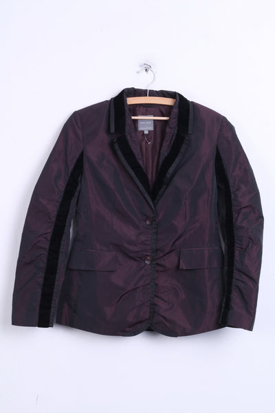 Marc Aurel Womens 40 L Light Blazer Plum Color Top Suit - RetrospectClothes