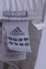 Adidas Womens 18 44 Trousers White Clima 365 Nylon Elastane Blend Sport Pants