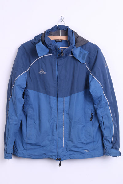 Vaude Womens M Waterproof Jacket Hood Blue Windproof Sport Top - RetrospectClothes