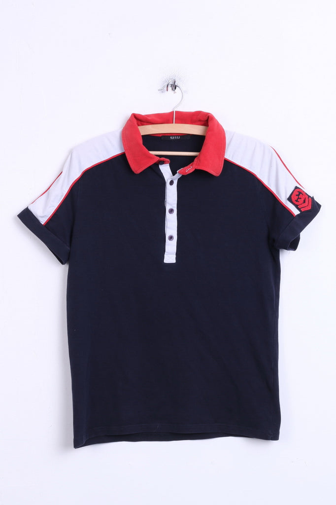 Gucci Womens XL Polo Shirt Navy Cotton Sport Italy - RetrospectClothes