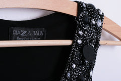 Piaza Italia Womens S Blouse Bids Black Long Tunic Sleeveless - RetrospectClothes