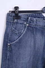 MUSTANG Womens Trousers W28 L32 Jeans Blue Cotton Denim - RetrospectClothes