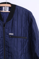 Kansas Mens 2XL 47/49 Jacket Bomber Thermo Quilted Navy - RetrospectClothes