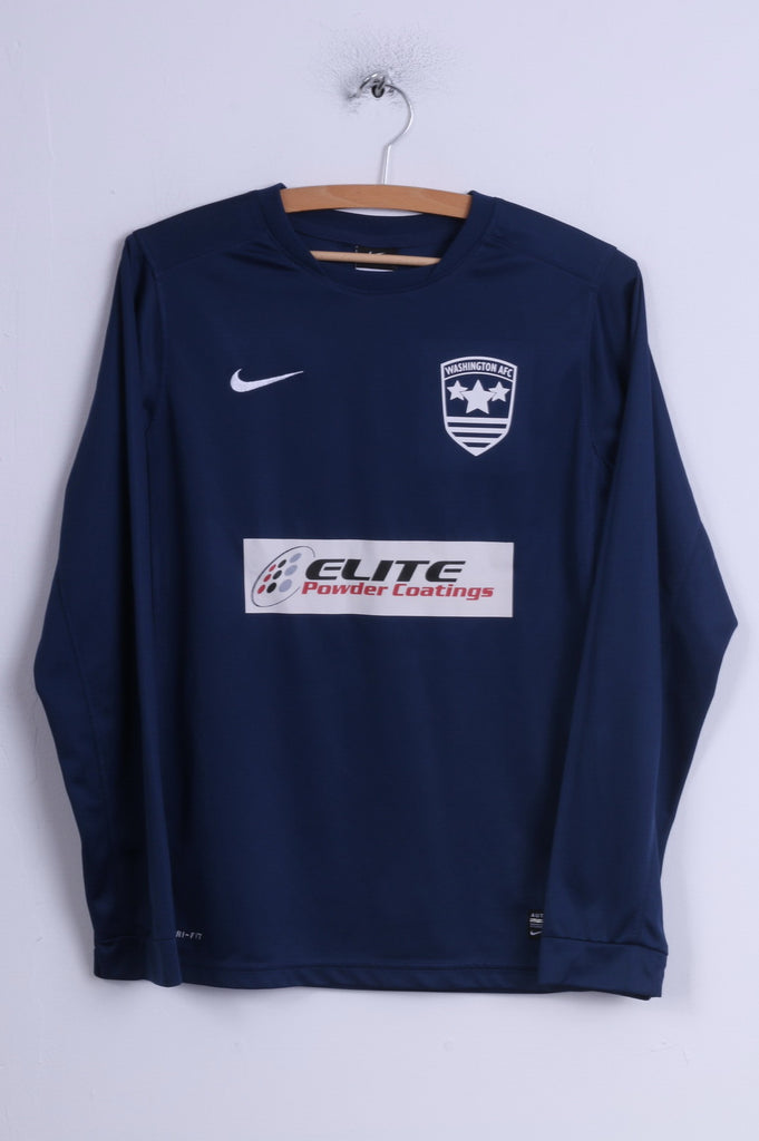 Nike Boys 158-170 13-15 Age Shirt Navy Washington AFC Football Long Sleeve