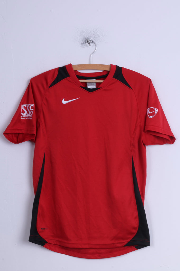 Nike Boys XS 152-158 12-13 Age Shirt Red Football Jersey Houghton Shool Sport
