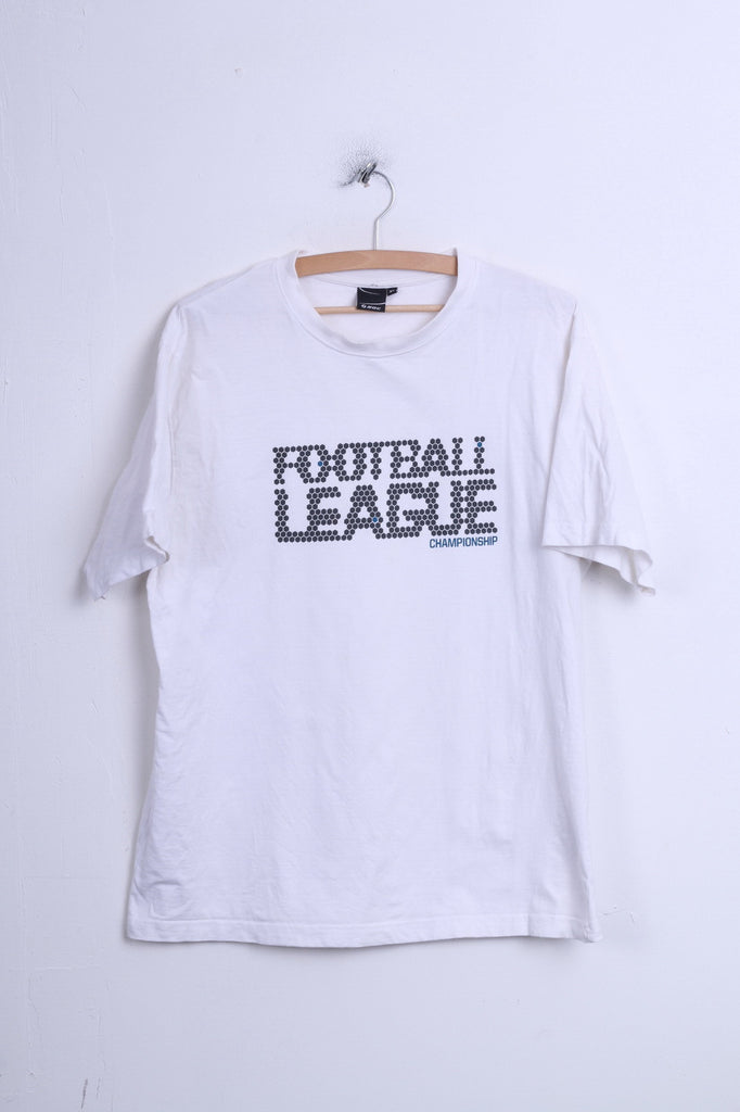 Mens XL T-Shirt White Cotton Crew Neck Football League Championship - RetrospectClothes