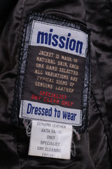 Mission Women M Jacket Black Single Breasted Leather