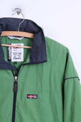 CAMARO Mens XS (Youth M) Jacket Green Hood Windcheater - RetrospectClothes