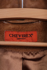 Chevirex Germany Womens 38 M Leather Jacket Suede Single Breasted Brown Patch