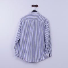 GANT Mens M Casual Shirt Blue Striped New Heaven Oxford Cotton Long Sleeve