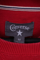 Converse Mens M Sweatshirt Red Cotton Blend Graphic All Stars NYC Crew Neck Top