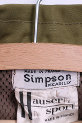 Simpson Womens 48 XL Outdoor Shirt Khaki France Pockets - RetrospectClothes
