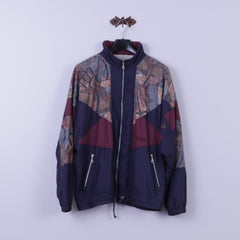 Authentic Klein Sportswear Mens 54 XL Jacket Retro Navy Abstract Bomber Zip Up Festival Top