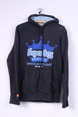 Superdry Kings Mens S Sweatshirt Black Cotton Hooded Jumper #22