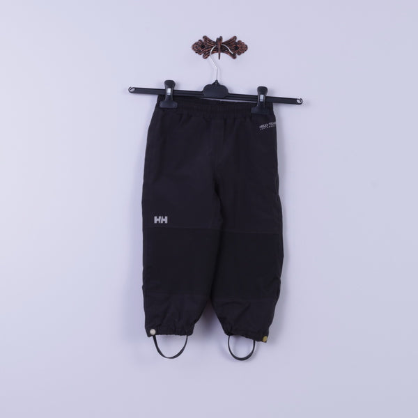 Helly Hansen Boys 92 2 Age Trousers Black Nylon Waterproof Performance Pants