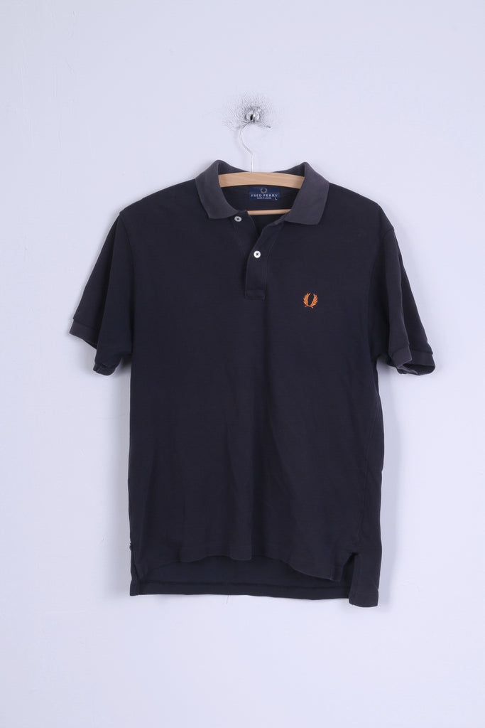 Fred Perry Mens L Polo Shirt Charcoal Cotton