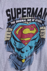Cedar Wood State Superman Mens XL Shirt Grey Cotton - RetrospectClothes