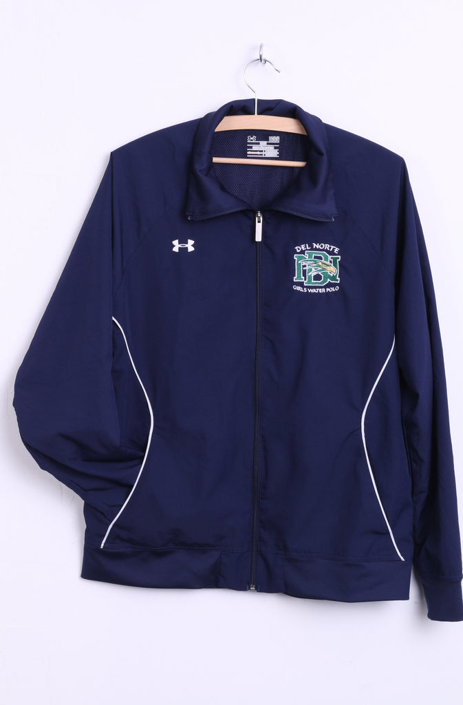 Under Armour Womens L Jacket Del Norte Girls Water Polo Navy Sweatshirt - RetrospectClothes
