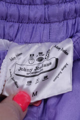 Johny Jordans Womens S Tracksuit Vintahe Purple Shiny Retro Nylon Sportswear Set