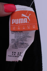 Puma Mens XL Track Trousers Black Mesh Lined Sportrswear Training Pants