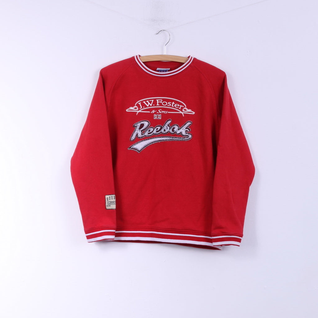Reebok Boys 176 14 Age Sweatshirt Red Sportswear Top Cotton J.W.Foster & Sons
