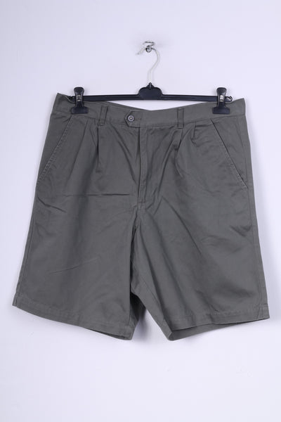 Head Mens W36 Shorts Chino Easy Fit Grey Cotton Casual Summer