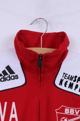 Adidas Bedburger BV Boys 14 Age 164 Track Top Jacket Red Football Light Top