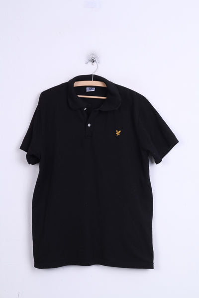 Lyle & Scott Mens 2XL Polo Shirt Black Cotton XXL Sport