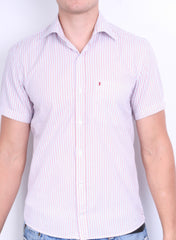 Peak Performance Mens S Casual Shirt Short Sleeve Striped Summer - RetrospectClothes