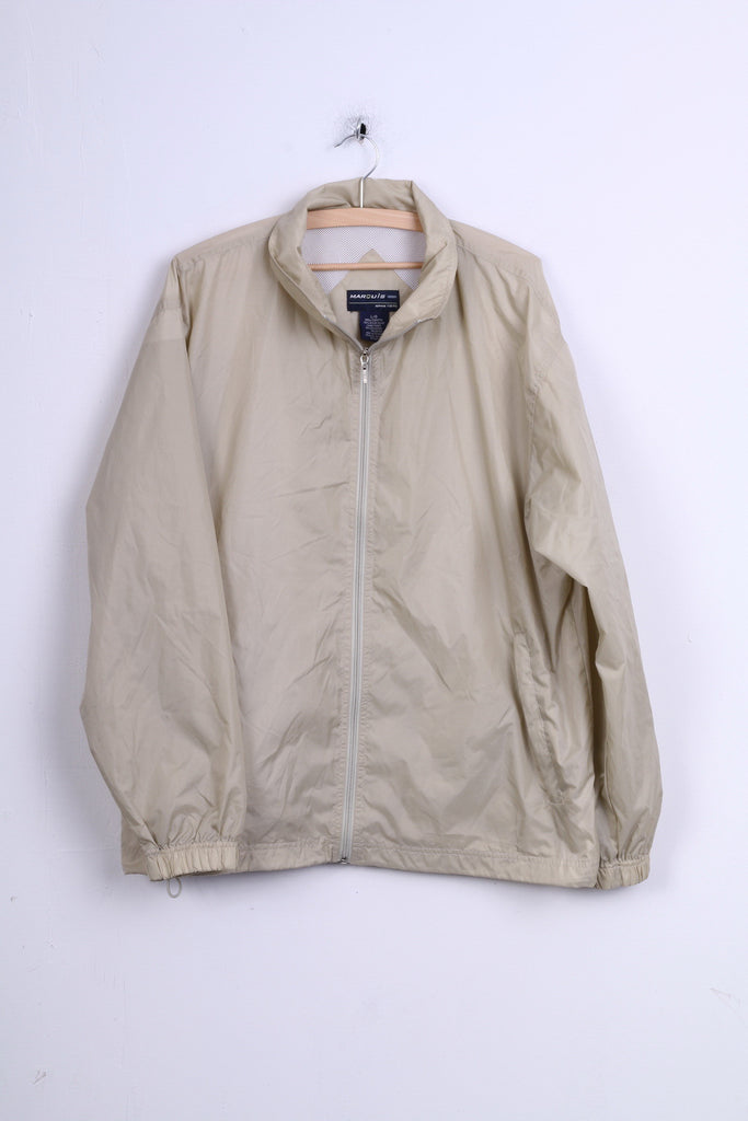 Marouis Mens L Jacket Nylon Waterproof Light Beige