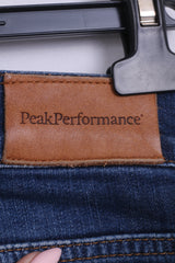 Peak Performance Womens W30 L34 Trousers Jeans Denim Cotton Jacy