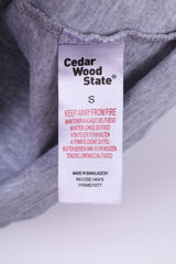 Cedar Wood State Mens S T-Shirt Graphic Cotton Grey Top