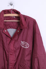 RESCUE Sports Mens XL Jacket Outdoor Nylon Waterproof Maroon - RetrospectClothes