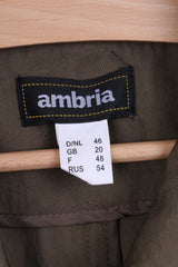 Ambria Womens 20 XXL Jacket Blazer Single Breasted Khaki Nylon Waterproof