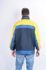 Marcel Clair Mens S Jacket Nylon Waterproof Sport Blue - RetrospectClothes